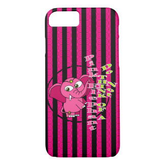 Don't think of a pink elephant iPhone 7 case