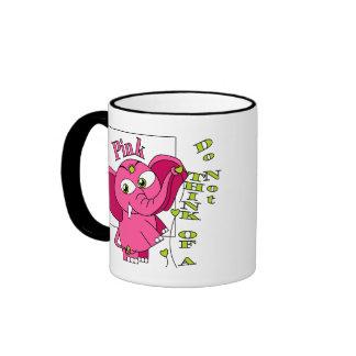 Don't think of a pink elephant. ringer mug