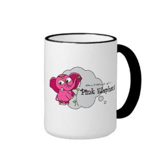 Don't think of a pink elephant ringer mug