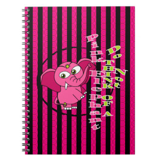 Don't think of a pink elephant spiral note books