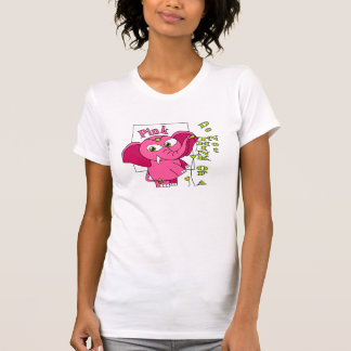 Don't think of a pink elephant vertical typo. tshirts