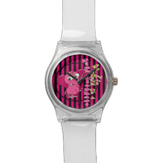 Don't think of a pink elephant wrist watch