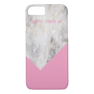 Don't Touch Me Minimal Marble w\ Color Block iPhone 7 Case