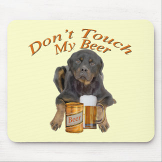 Don't Touch My Beer Rottweiler Mousepad