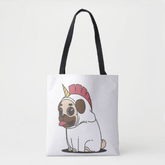 Dont Touch My Pug Unicorn-pug Tote Bag