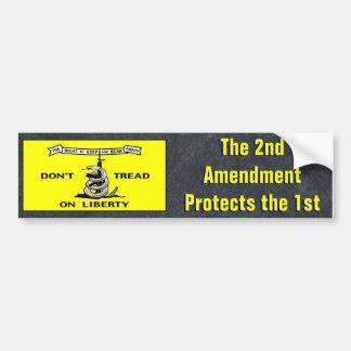 Dont Tread On Liberty Political Bumper Sticker