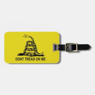 DON'T TREAD ON ME 2ND AMENDMENT UNITED STATES LUGGAGE TAG
