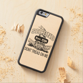 Don't Tread on Me 2nd Amendment Wooden Smart Phone Maple iPhone 6 Bumper Case