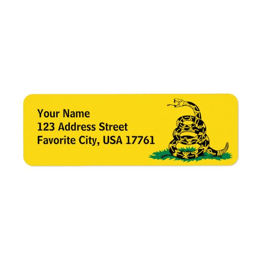 Don't Tread On Me Address Labels