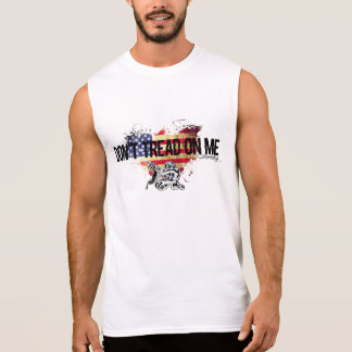 Don't Tread on Me American Flag Shirt Snake Tank
