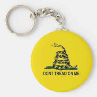 Don't tread on me basic round button key ring