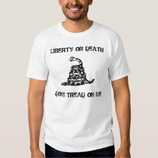 Don't Tread On Me Black Ink Snake Shirts