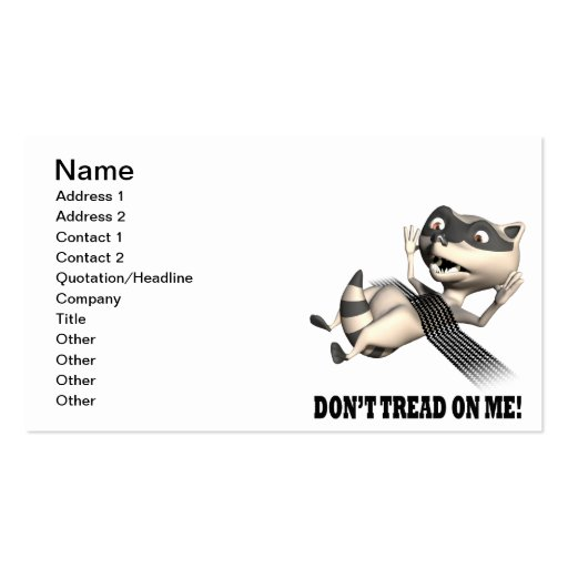 Dont Tread On Me Business Card Template
