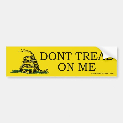 Don't Tread On Me Car Bumper Sticker