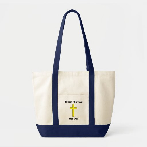 Don't Tread On Me Cross Religious Freedom Canvas Bags