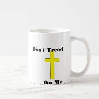 Don't Tread On Me Cross Religious Freedom Coffee Mug