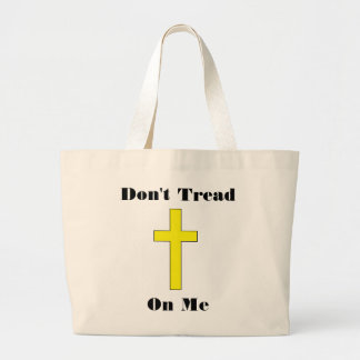 Don't Tread On Me Cross Religious Freedom Jumbo Tote Bag