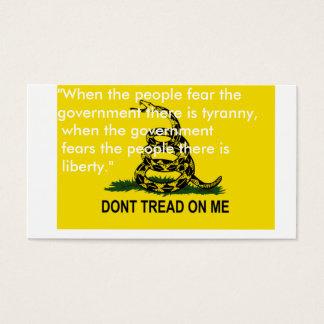 Dont tread on me flag cards