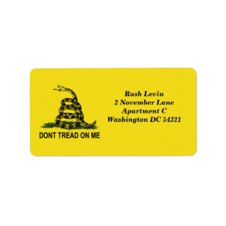 Dont Tread On Me Gadsden Flag Custom Label