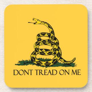 Don't Tread on Me, Gadsden Flag Patriotic History Beverage Coaster