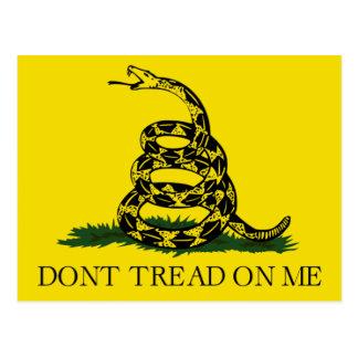 Don't Tread on Me, Gadsden flag tea party Postcard