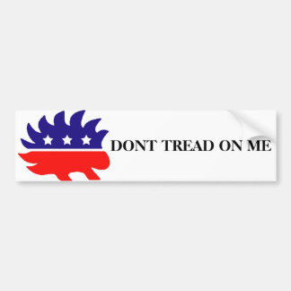 DONT TREAD ON ME Liberty Porcupine Bumper Sticker