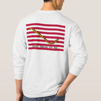 Dont Tread On Me - Navy Jack Flag - See Both Sides T-Shirt