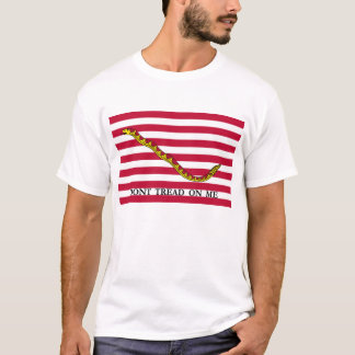 Dont Tread On Me - Navy Jack Flag T-Shirt