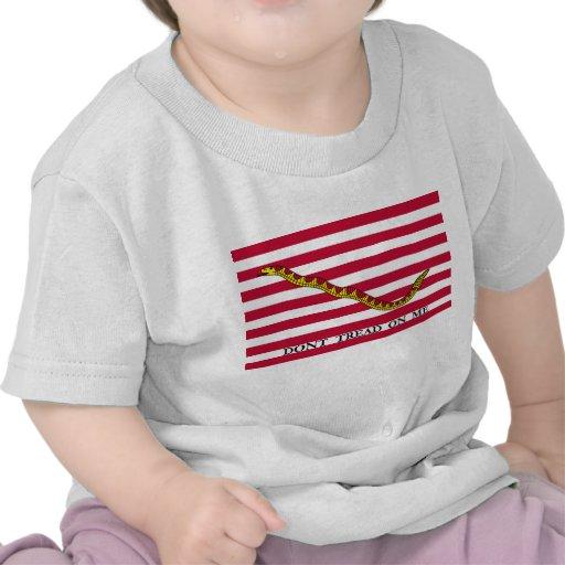 Dont Tread On Me - Navy Jack Flag Tshirt