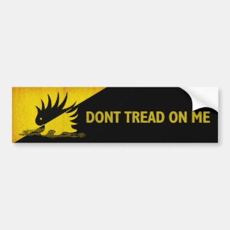Don't Tread on Me Porcupine Bumper Sticker