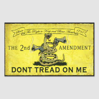 Dont Tread on Me Rectangular Sticker