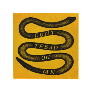 Don't Tread On Me Vintage Gadsden Wood Print