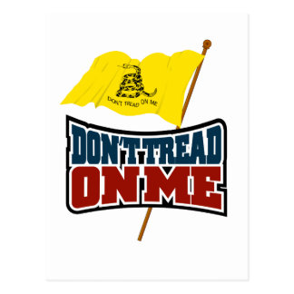 Dont Tread On Me Waiving Gadsden Flag Postcard