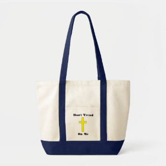 Don't Tread On Me with Cross Religious Freedom Tote Bag