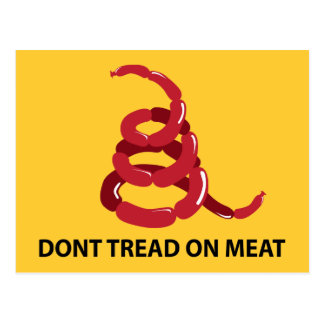 Dont Tread on Meat Postcard