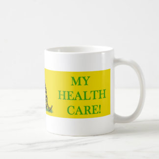 don't tread on my health care obama coffee mug