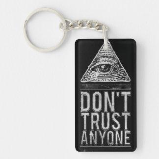 Don't trust anyone key ring