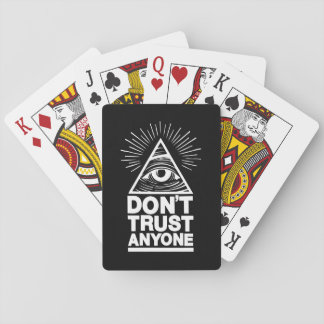 Don't Trust Anyone Playing Cards