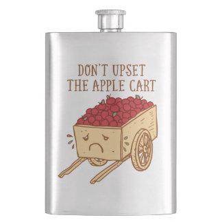 Don't Upset The Apple Cart Hip Flask