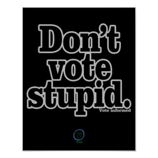Don't Vote Stupid Poster