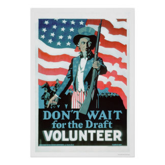 Don't wait for the Draft - Volunteer (US02093) Poster