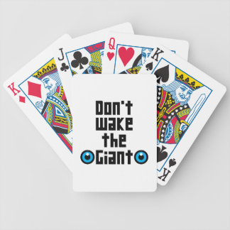 Don't wake the Giant Bicycle Playing Cards