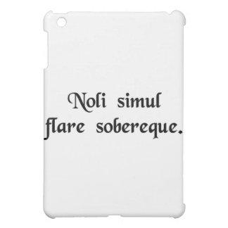 Don't whistle and drink at the same time. iPad mini covers