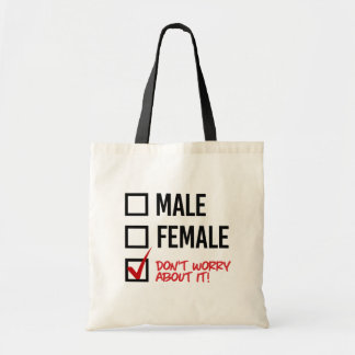 Don't worry about my gender - - LGBTQ Rights - .pn Tote Bag
