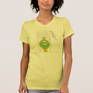 Don't Worry Be Happy Funny Creature in Rain Shirt