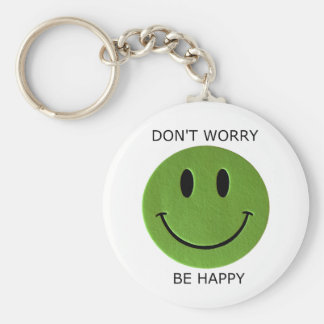 Don't Worry, Be Happy Key Ring