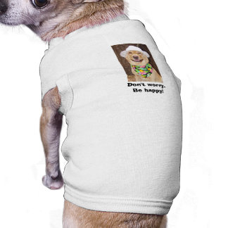 Don't Worry! Be Happy! Sleeveless Dog Shirt