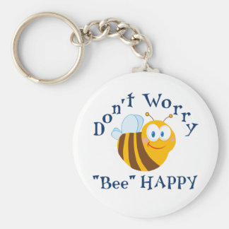 "Don't worry ""Bee"" Happy Key Chain"