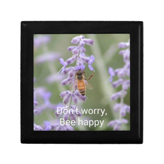 Don't Worry, Bee Happy Small Square Gift Box