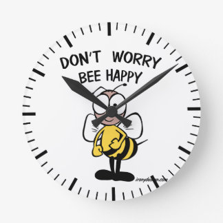 Don't Worry Bee Happy Wall Clock